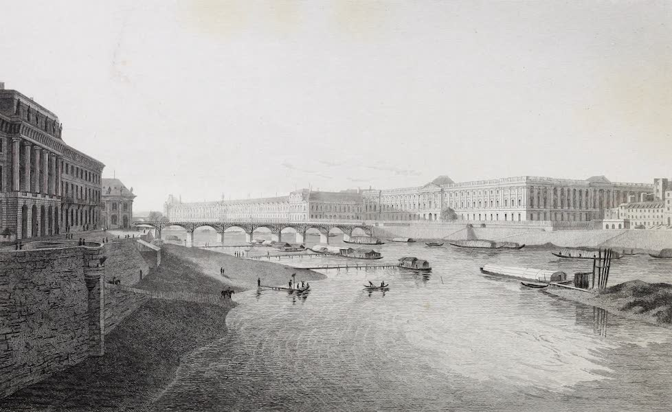 French Scenery - The Louvre, from the Pont Neuf (1822)