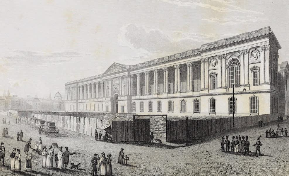 French Scenery - Colonnade of the Louvre (1822)