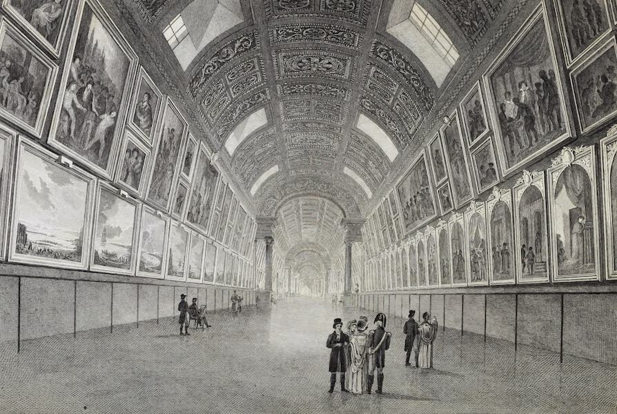 French Scenery - Interior of the Gallery of the Louvre (1822)
