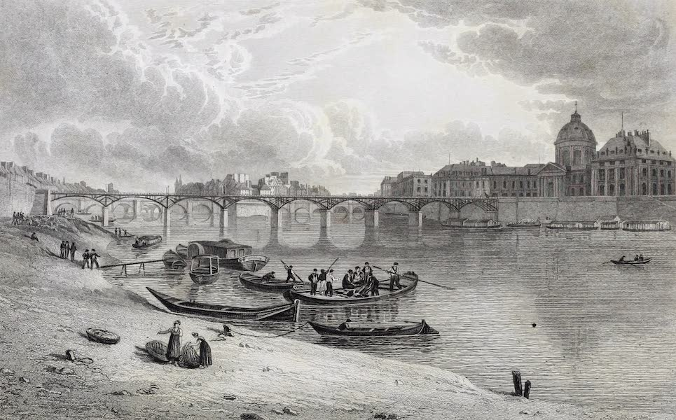 French Scenery - Bridge of the Louvre (1822)