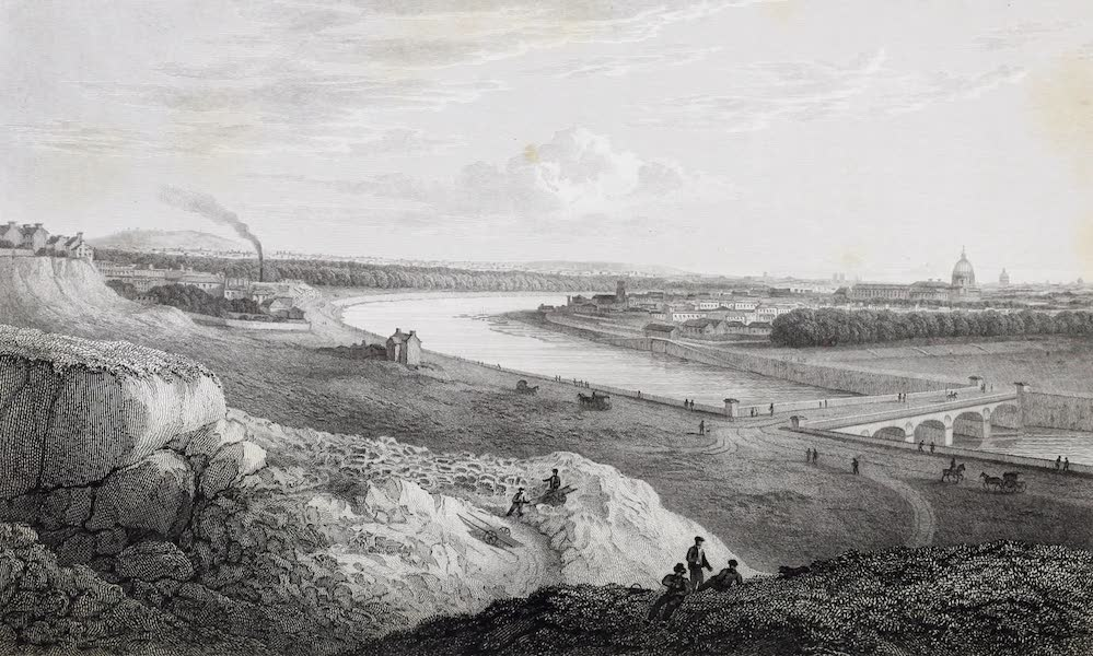 French Scenery - Paris, from the Heights near the Barrière de Passy (1822)