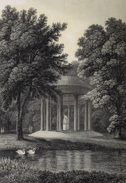 French Scenery - Temple of Love in the Gardens of Trianon (1822)