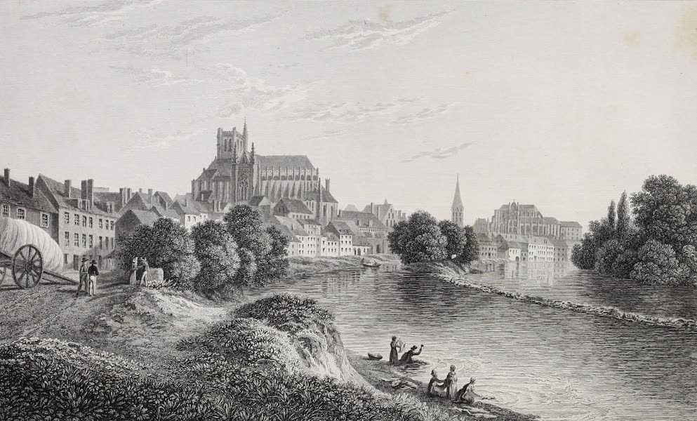 French Scenery - Auxerre (1822)