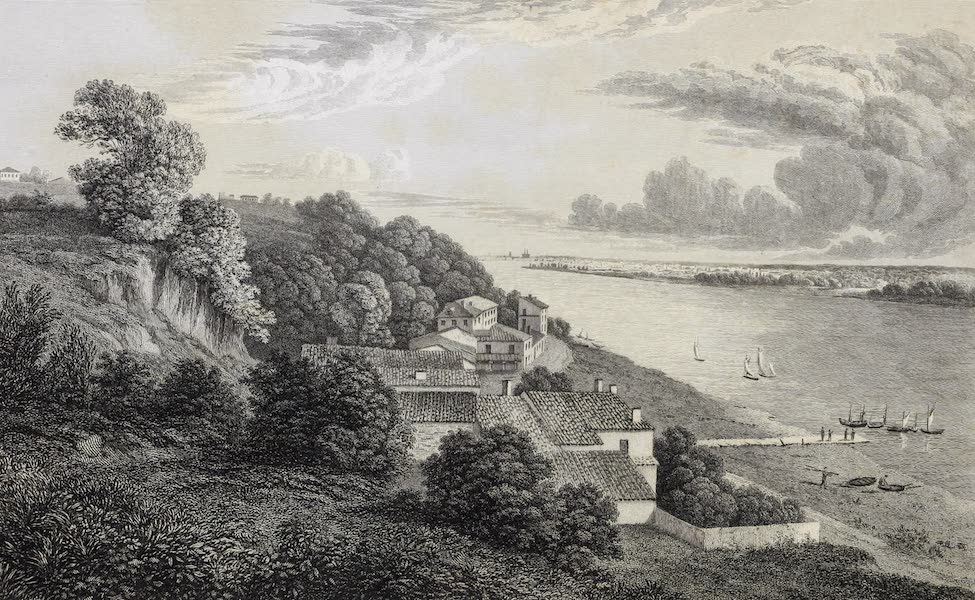 French Scenery - Banks of the Garonne at Lormont (1822)