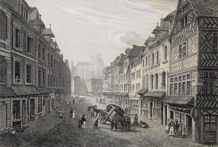 French Scenery - Abbeville, Rue Du Puit-à-la-chaine (1822)