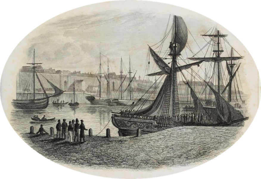 French Scenery - Calais Harbour ; Vignette (1822)