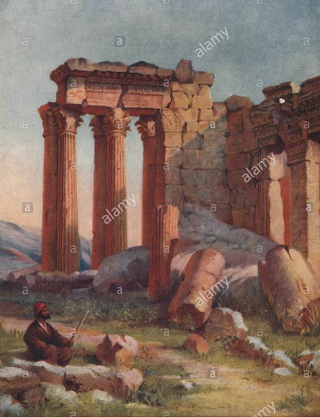 From Damascus to Palmyra - The Small Temple, Baalbek (1908)
