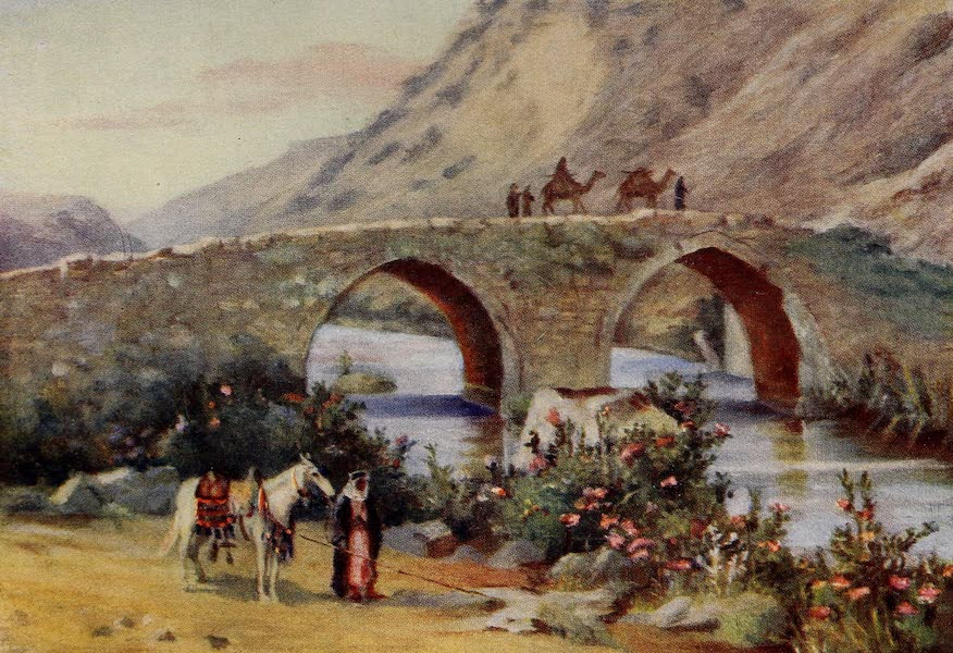 From Damascus to Palmyra - Bridge over the Litany, Jisr el Kardeli (1908)