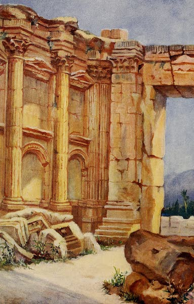 From Damascus to Palmyra - The Temple of Bacchus, Baalbek, Interior (1908)