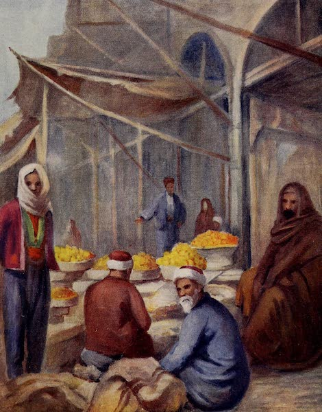 From Damascus to Palmyra - In the Fruit Bazaar, Damascus (1908)