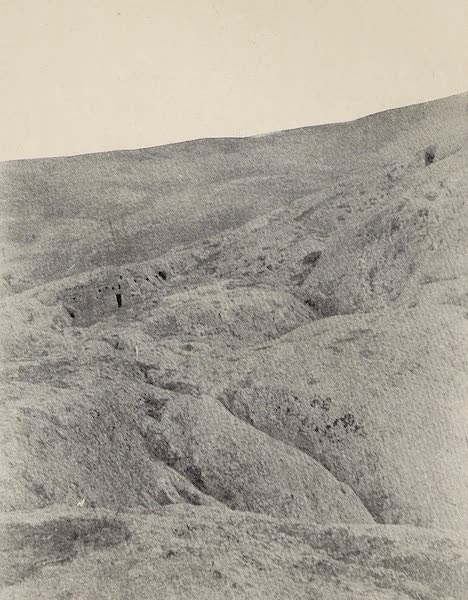 From Damascus to Palmyra - Rocky Country behind Ma'alula. From a Photograph (1908)