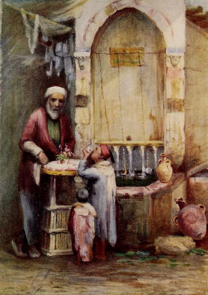 From Damascus to Palmyra - A Seller of Sweets, Damascus (1908)