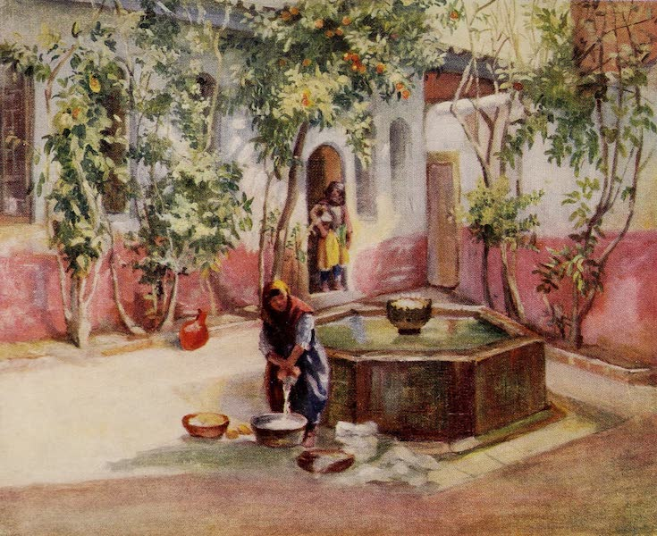 From Damascus to Palmyra - Court of a Damascene House (1908)