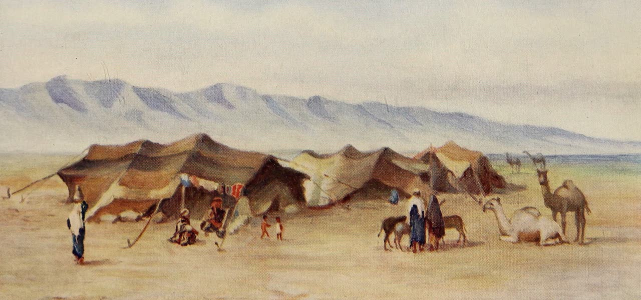 From Damascus to Palmyra - Arab Encampment between Homs and Palmyra (1908)