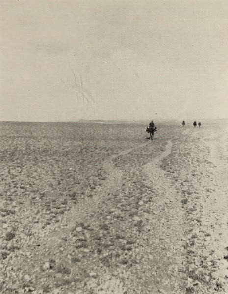 From Damascus to Palmyra - A Desert Road. From a Photograph (1908)