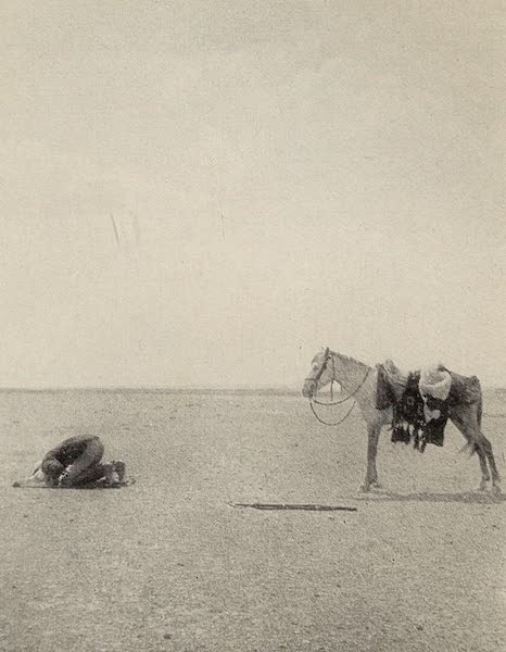 From Damascus to Palmyra - Prayer in the Desert. From a Photograph (1908)