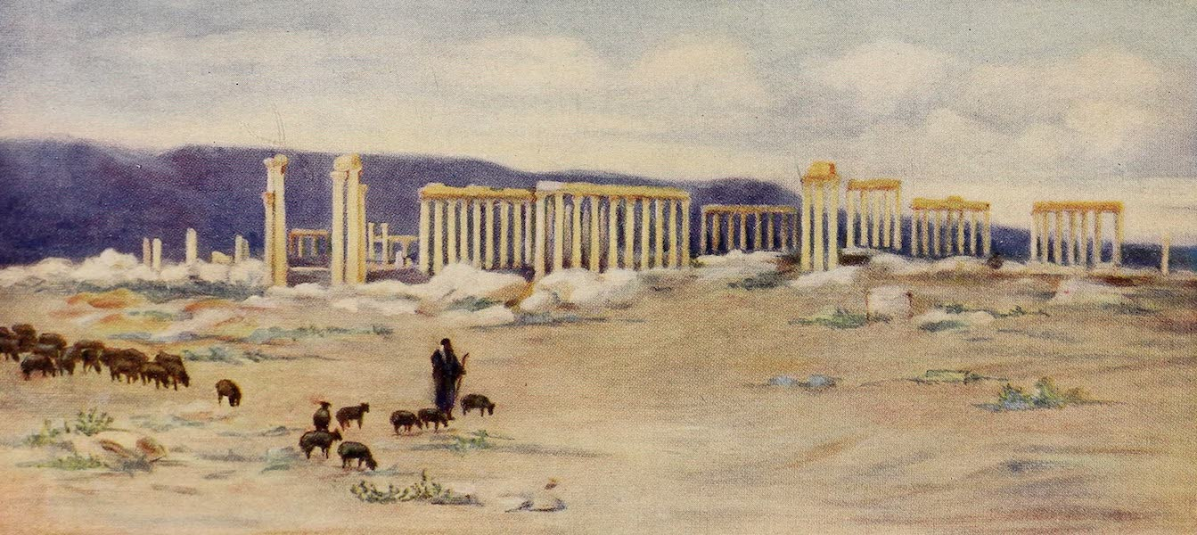 From Damascus to Palmyra - General View of the Colonnade, Palmyra (1908)