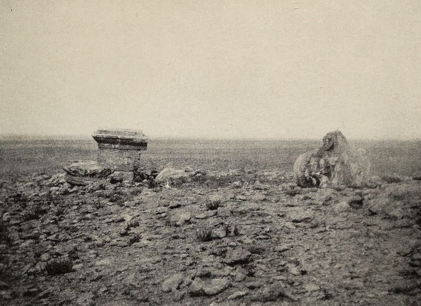 From Damascus to Palmyra - The Pillar at El Kerasi. From a Photograph (1908)