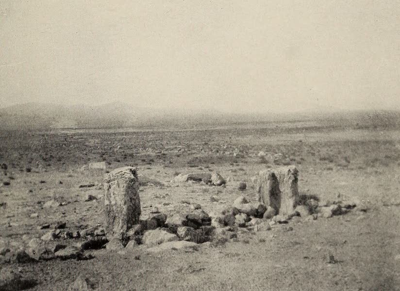 From Damascus to Palmyra - The First Landmark - Ancient Door-posts. From a Photograph (1908)