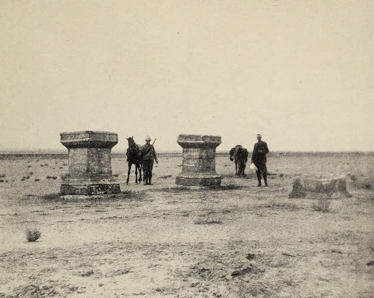 From Damascus to Palmyra - Altars near Roman Road. From a Photograph (1908)