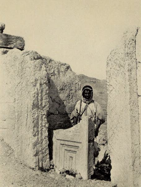 From Damascus to Palmyra - Stone Door, Palmyra. From a Photograph (1908)