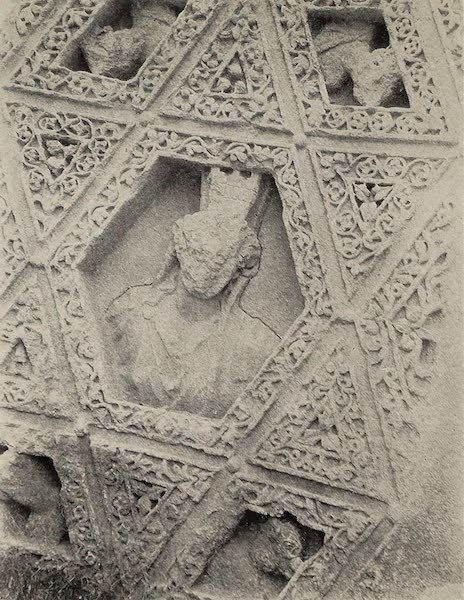 From Damascus to Palmyra - Carving on Roof of Peristyle, Temple of Bacchus, Baalbek. From a Photograph (1908)