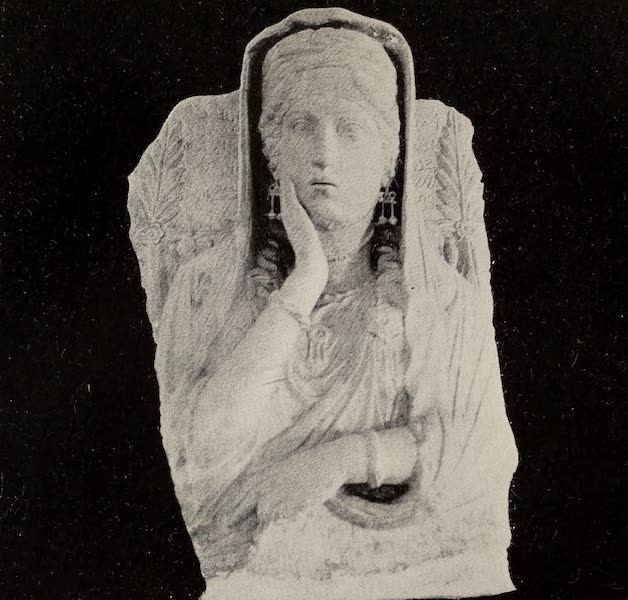 From Damascus to Palmyra - Bust from Palmyrene Tomb. From a Photograph (1908)