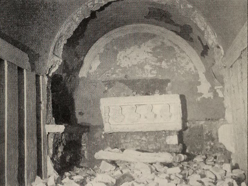 From Damascus to Palmyra - Underground Burial Vault, Palmyra. From a Photograph (1908)