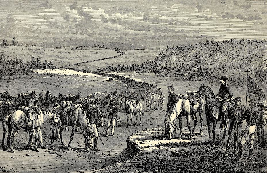 """From Everglade to Canon with the Second Dragoons - """"Ours"""", 1864, Army of the Potomac (1875)"""