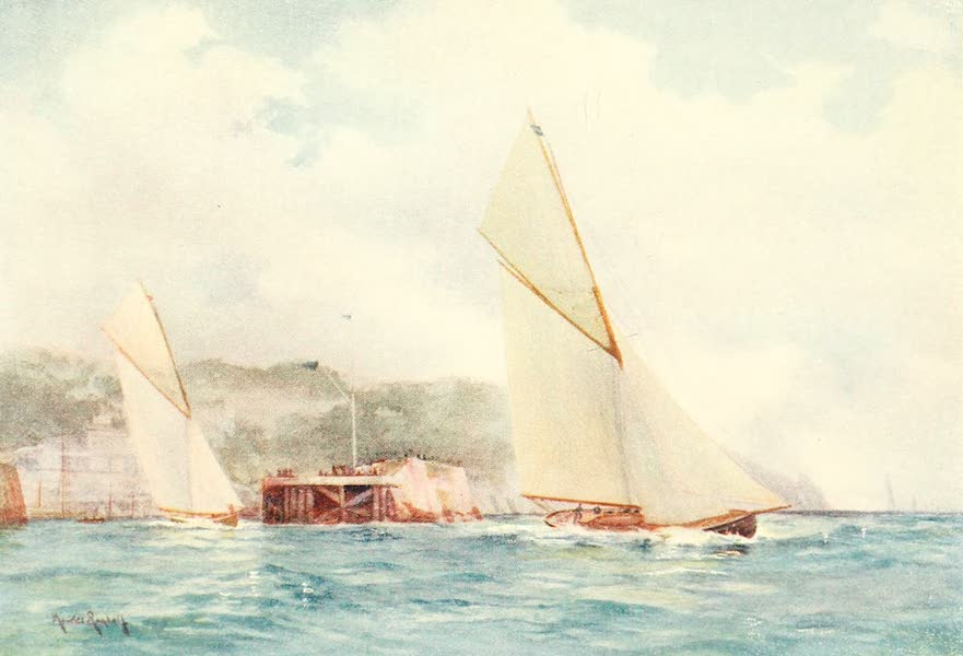 From the North Foreland to Penzance - Torquay Harbour: Entrance (1908)