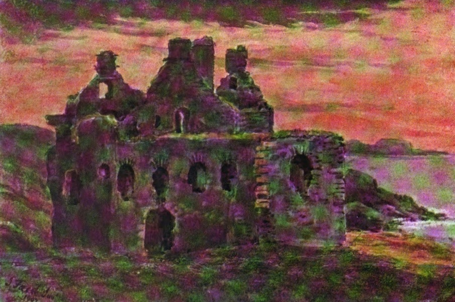 Galloway Painted and Described - Dunskey Castle (1908)