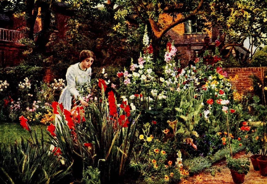 Gardens of England, Painted and Described - A London Garden in August (1911)