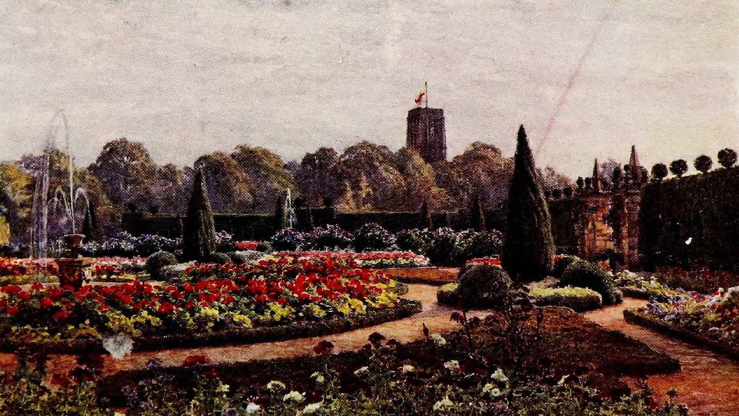 Gardens of England, Painted and Described - The Terrace Garden, Hoar Cross House (1911)