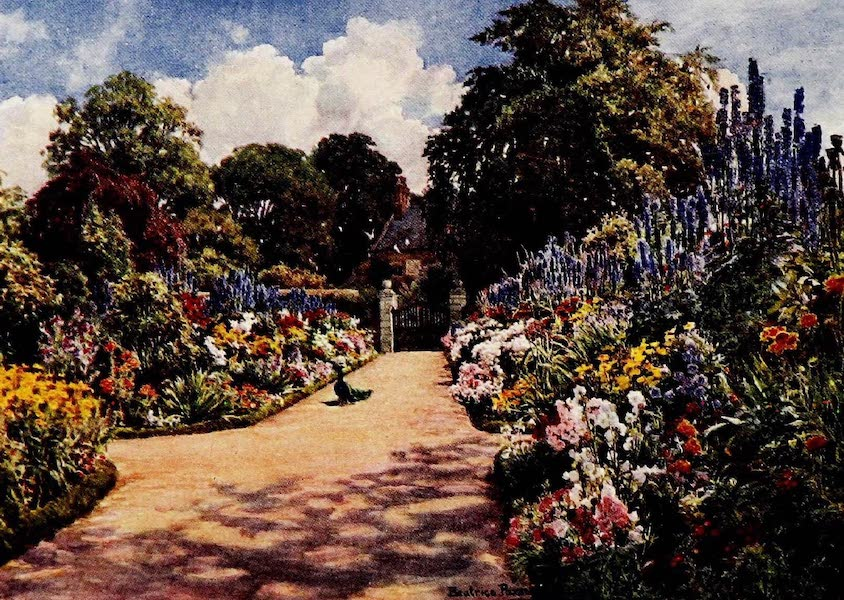 Gardens of England, Painted and Described - Herbaceous Borders, Dingley Park (1911)