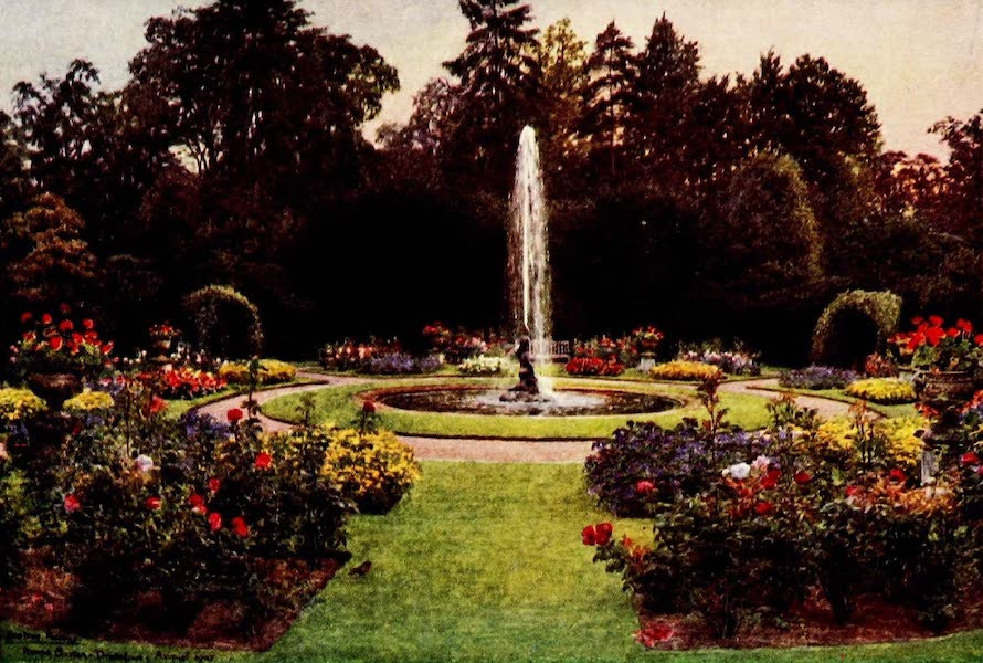 Gardens of England, Painted and Described - The Round Garden, Drakelowe (1911)