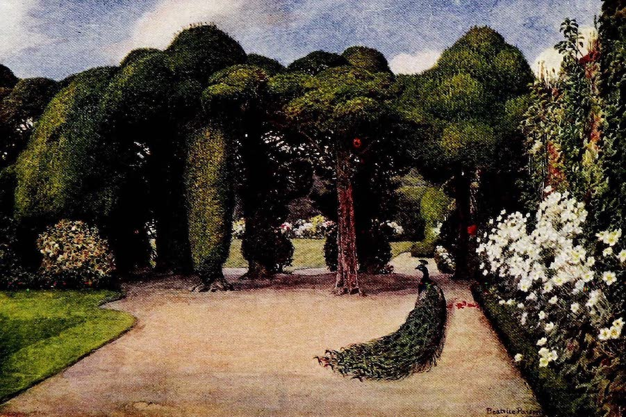 Gardens of England, Painted and Described - Entrance to the Gardens, Ayscough Fee Hall (1911)
