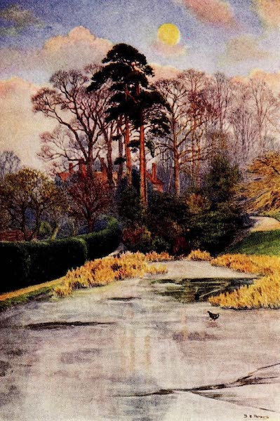Gardens of England, Painted and Described - A January Moonrise, Golders Hill, Hampstead (1911)