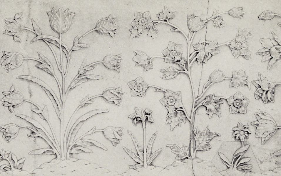 Gardens of the Great Mughals - IX. Floral Detail from the Taj Dado (1913)
