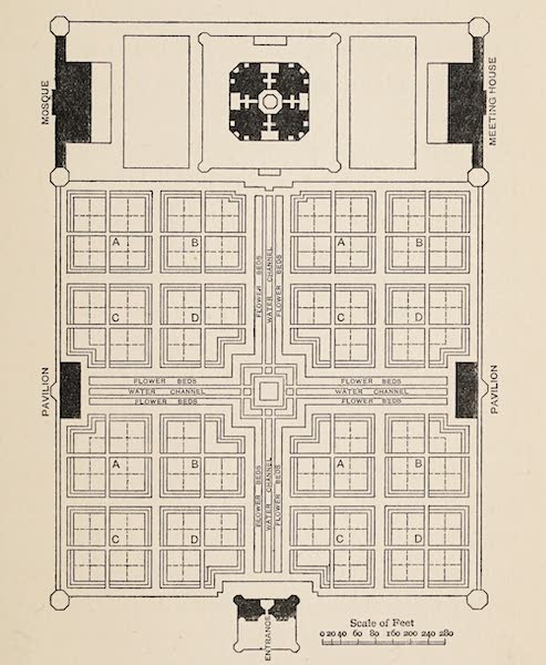Gardens of the Great Mughals - Taj Garden (Colonel Hodgson's Plan) (1913)