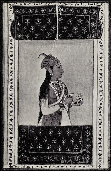 Gardens of the Great Mughals - XVIII. Portrait Miniature of Nur-Jahan Begam (1913)