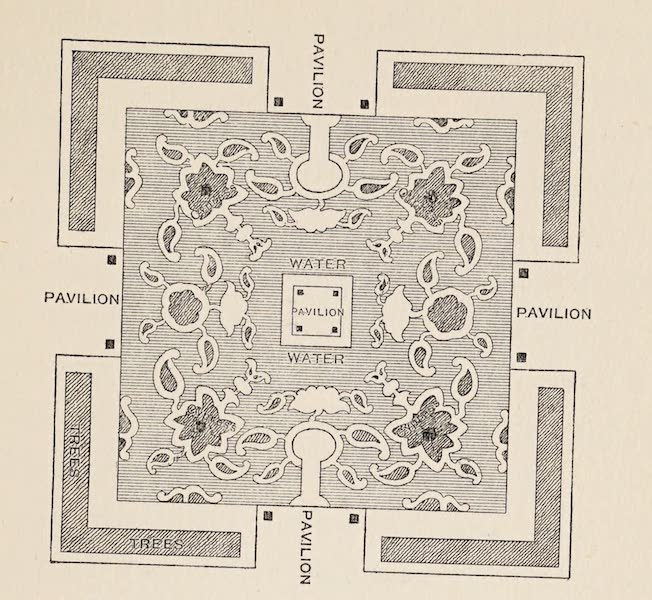 Gardens of the Great Mughals - Plan of a Garden in one of the Island Palaces at Udaipur (1913)