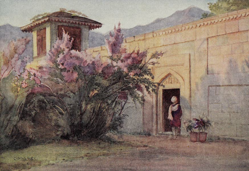 Gardens of the Great Mughals - XXXV. The Lilac Terrace (Nishat Bagh)* (1913)