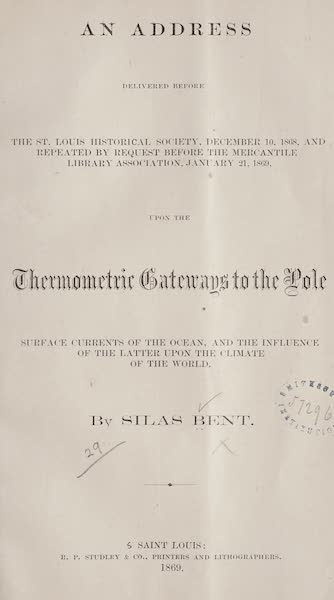 Gateways to the Pole - Title Page (1869)