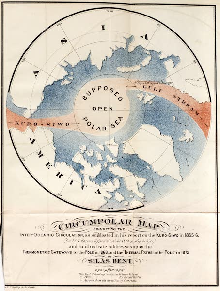Gateways to the Pole - Circumpolar Map Exhibiting the Inter-Oceanic Circulation (1872)