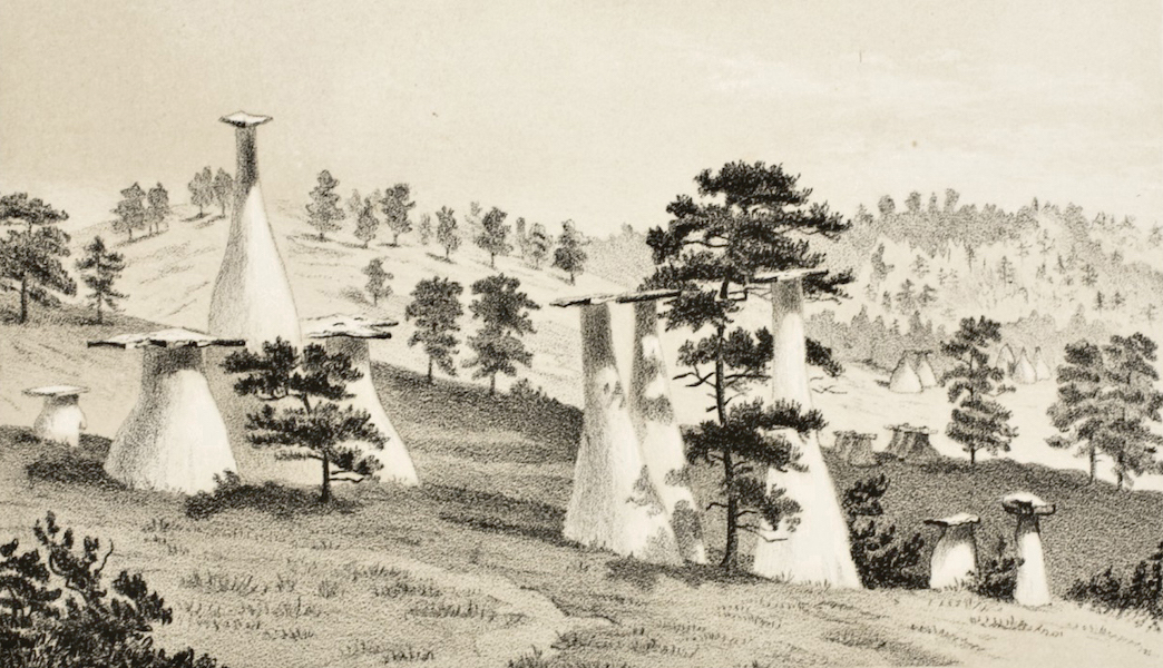 Gems of Rocky Mountain Scenery - Natural Monuments (1869)