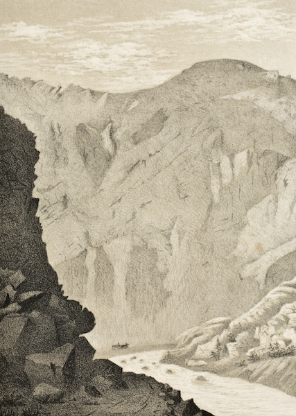 Gems of Rocky Mountain Scenery - Weber Canyon - Looking Up (1869)