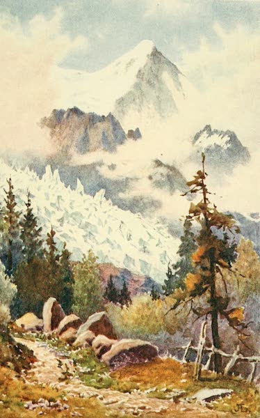 Geneva, Painted and Described - The Glaciers des Bossons, Chamonix (1908)