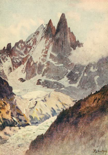 Geneva, Painted and Described - Montenvers and Aiguilles Verte and Dru (1908)