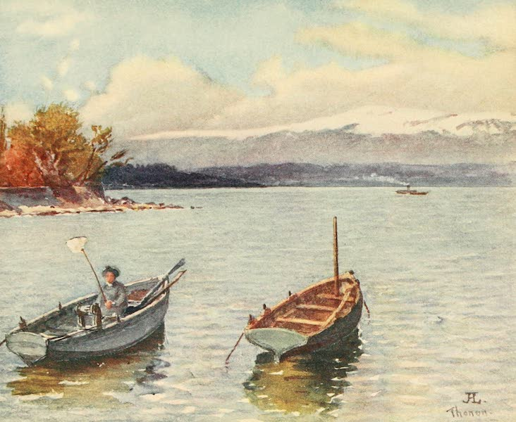Geneva, Painted and Described - The Jura Range from Thonon, Hte. Savoie (1908)
