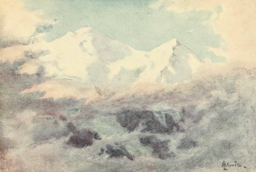 Geneva, Painted and Described - The Aiguille and Dome du Gouter, Mont Blare (1908)